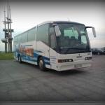 Biało-niebieski Scania Irizar